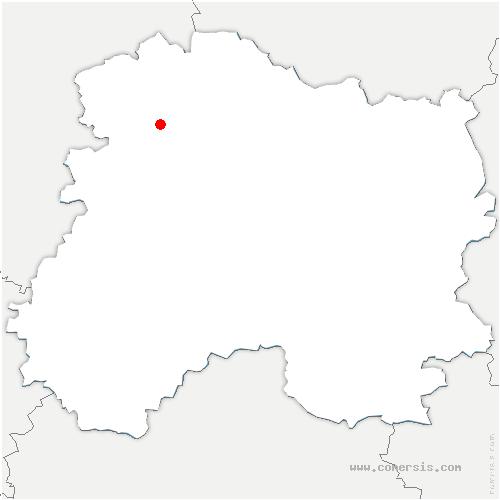carte de localisation de Ville-Dommange