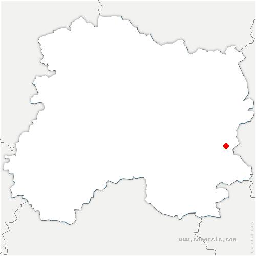carte de localisation de Villers-le-Sec