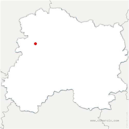 carte de localisation de Villers-sous-Châtillon