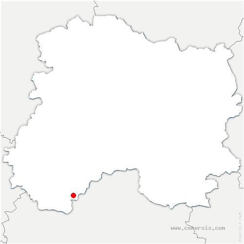 carte de localisation de Vouarces
