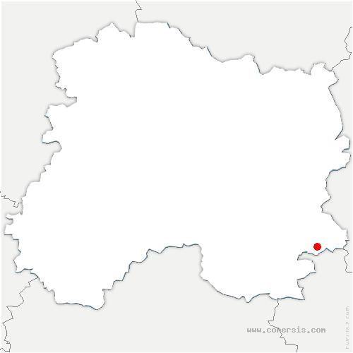 carte de localisation de Vouillers