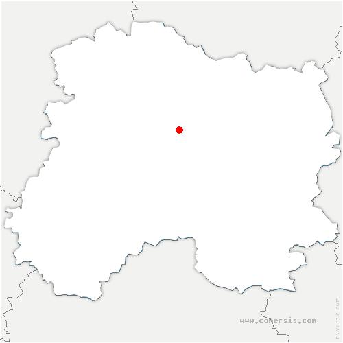 carte de localisation de Vraux