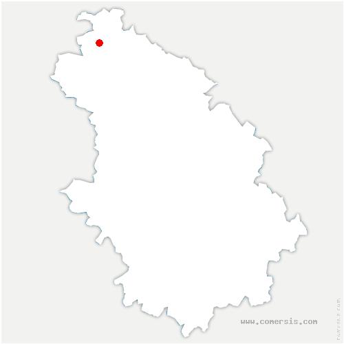 carte de localisation de Allichamps