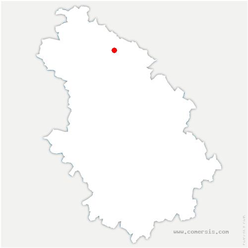 carte de localisation de Autigny-le-Petit