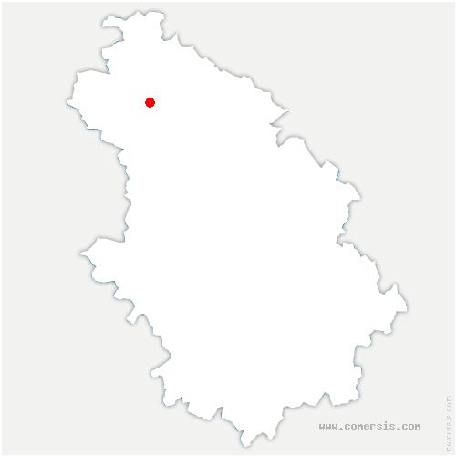carte de localisation de Bailly-aux-Forges