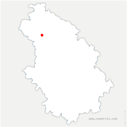 carte de localisation de Baudrecourt