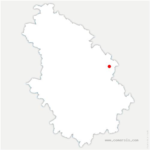 carte de localisation de Bourmont-entre-Meuse-et-Mouzon