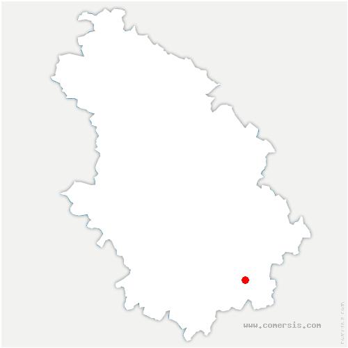 carte de localisation de Champsevraine