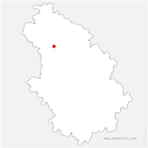 carte de localisation de Charmes-en-l'Angle