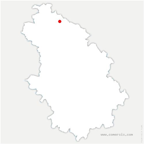 carte de localisation de Chevillon