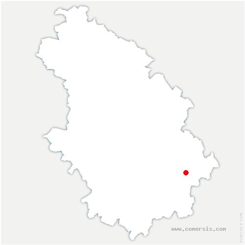 carte de localisation de Coiffy-le-Haut