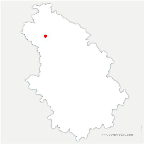carte de localisation de Courcelles-sur-Blaise