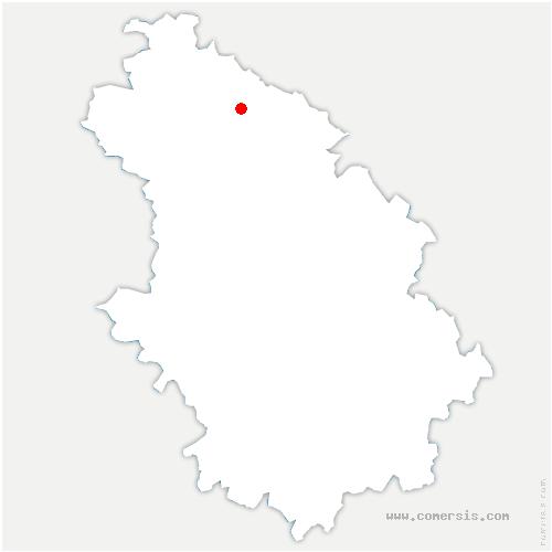 carte de localisation de Curel