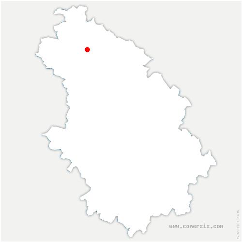 carte de localisation de Domblain