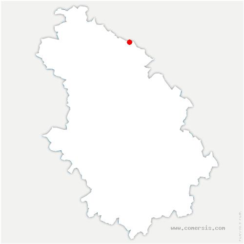 carte de localisation de Effincourt
