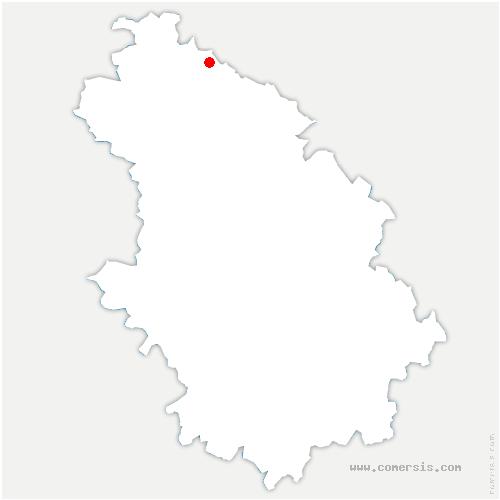 carte de localisation de Fontaines-sur-Marne