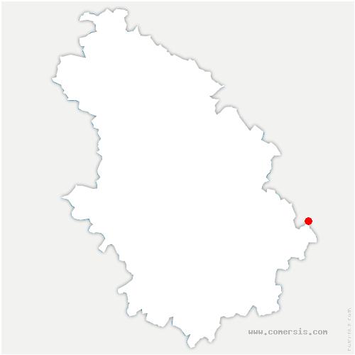 carte de localisation de Fresnes-sur-Apance