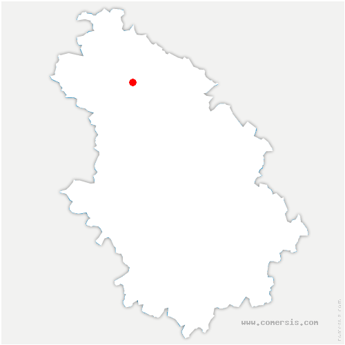 carte de localisation de Guindrecourt-aux-Ormes
