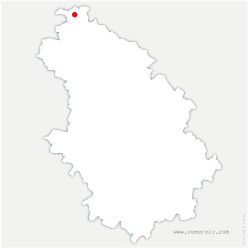 carte de localisation de Hallignicourt