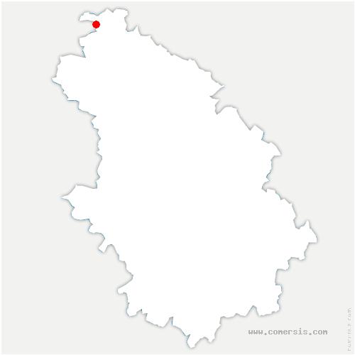 carte de localisation de Laneuville-au-Pont