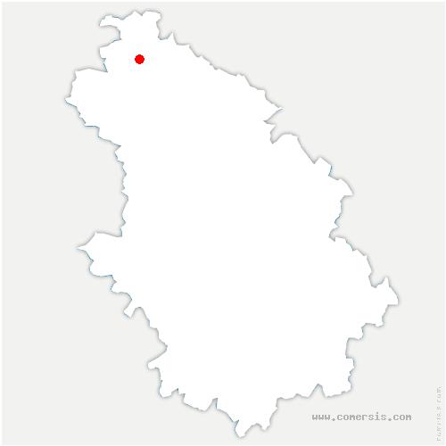 carte de localisation de Louvemont