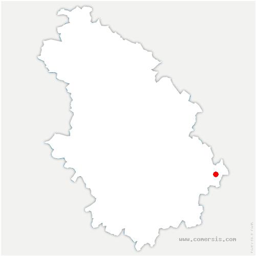 carte de localisation de Melay