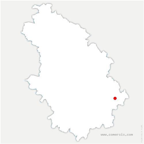 carte de localisation de Montcharvot