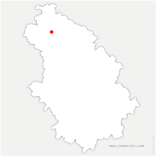 carte de localisation de Montreuil-sur-Blaise