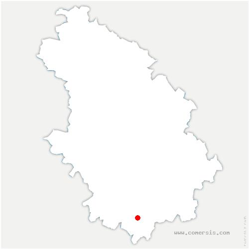 carte de localisation de Montsaugeonnais