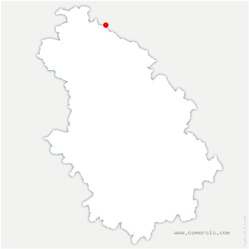 carte de localisation de Narcy