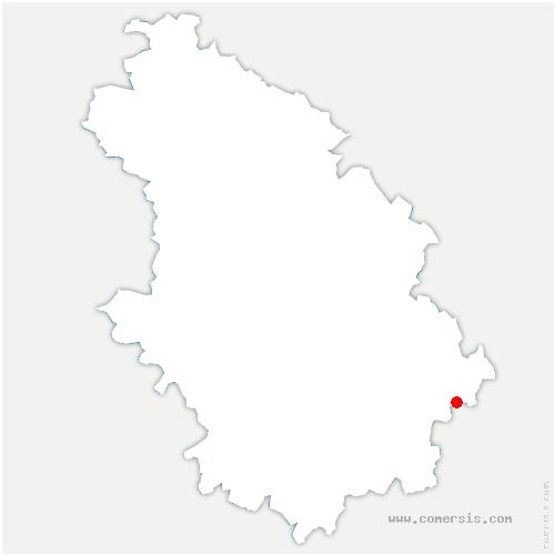 carte de localisation de Neuvelle-lès-Voisey