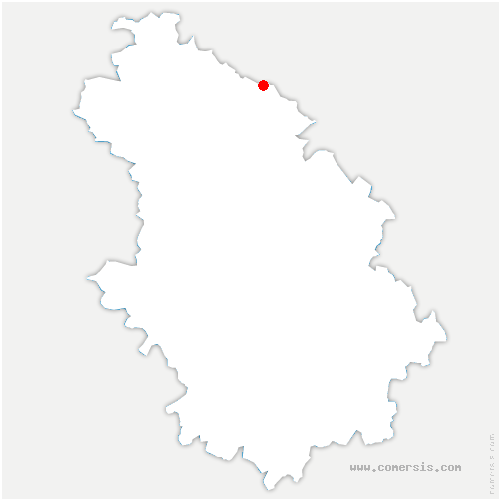 carte de localisation de Paroy-sur-Saulx