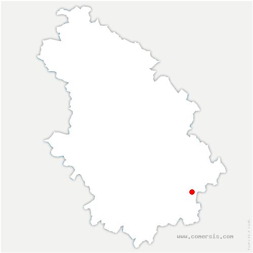 carte de localisation de Pierremont-sur-Amance
