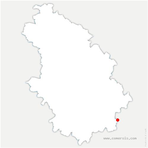 carte de localisation de Pressigny