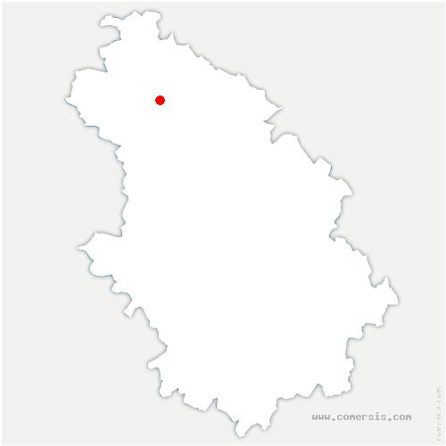 carte de localisation de Rachecourt-Suzémont