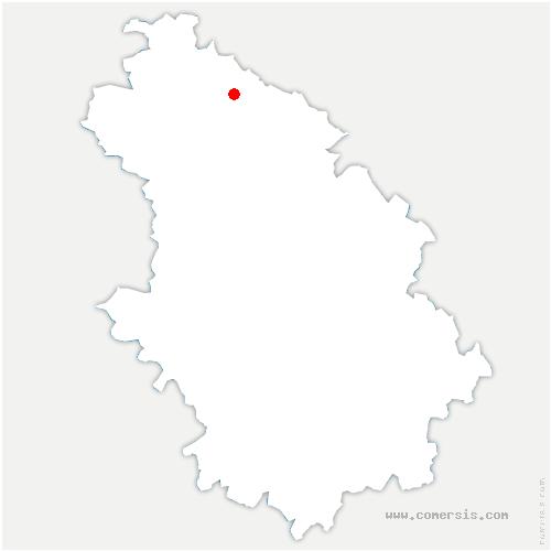 carte de localisation de Rachecourt-sur-Marne