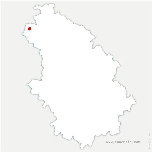 carte de localisation de Rives-Dervoises
