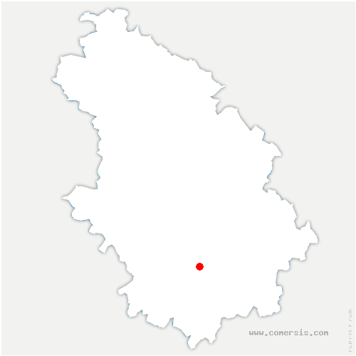 carte de localisation de Saints-Geosmes