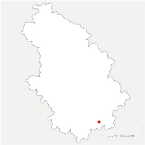 carte de localisation de Saulles