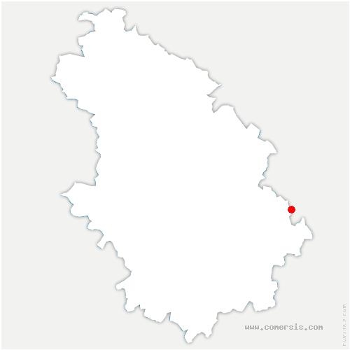 carte de localisation de Serqueux