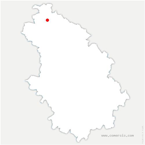 carte de localisation de Troisfontaines-la-Ville