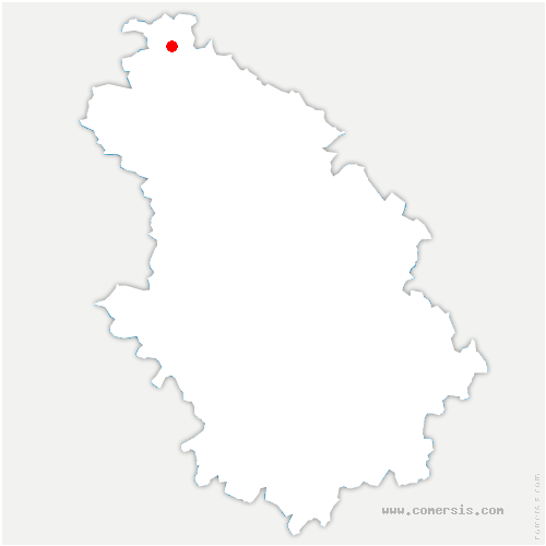 carte de localisation de Valcourt