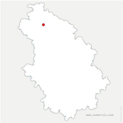 carte de localisation de Valleret