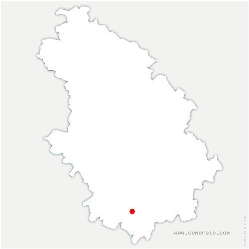 carte de localisation de Villegusien-le-Lac