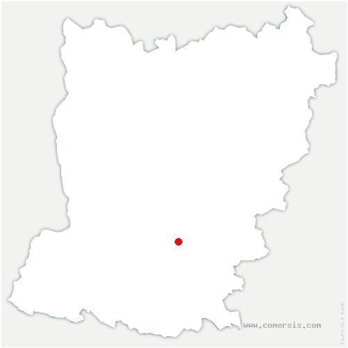 carte de localisation de Arquenay
