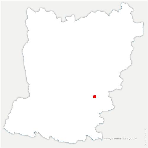carte de localisation de Bazouge-de-Chemeré