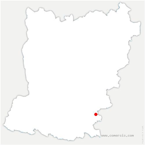carte de localisation de Beaumont-Pied-de-Bœuf