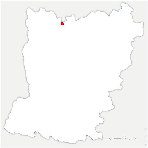 carte de localisation de Brecé