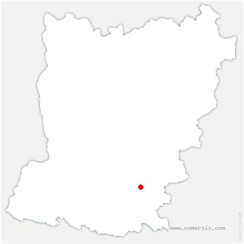 carte de localisation de Buret