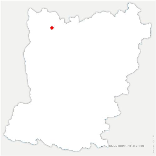 carte de localisation de Carelles